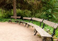 Free Benches In The Park Stock Photography - 16405882