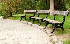 Free Benches In The Park Royalty Free Stock Photo - 16405895