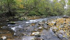 Free Panorama Of A Wild River Stock Image - 16405941