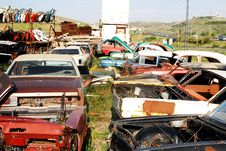 Free Car Graveyard Stock Photography - 16406262