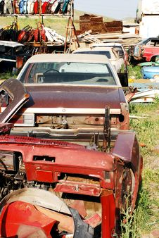 Free Car Graveyard Stock Image - 16406291