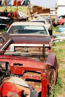Car Graveyard Stock Image