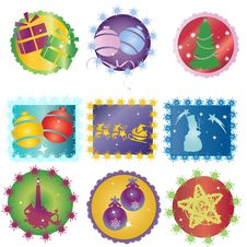 Free Christmas Icons Stock Photography - 16406322