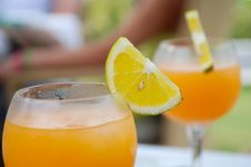 Free Orange Drink Stock Photo - 16407050