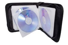 Black Disk-box With Disks Stock Photos