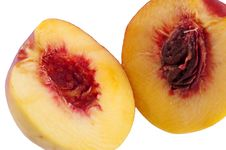 Free Cut Yellow Red-ripe Peach Stock Photography - 16407162