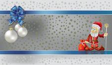 Free Christmas Greeting With Santa Claus Royalty Free Stock Photo - 16407195