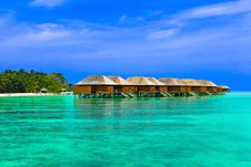 Free Water Bungalows On A Tropical Island Stock Photography - 16407552