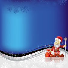 Free Christmas Greeting Santa Claus With Gifts Stock Photography - 16408052