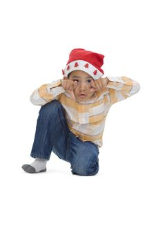Free Boy With Santa Claus Hat Stock Photo - 16408320