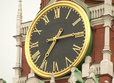 The Kremlin Clock Royalty Free Stock Photos