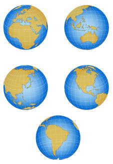 Vector Globe Stock Image