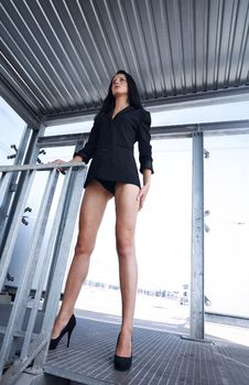 Free Self Assured Independent  Woman With Long Legs Stock Image - 16409171