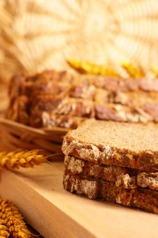 Fresh Crackling Bread Stock Photography