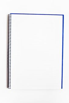 Blank Notebook Isolated Royalty Free Stock Photo