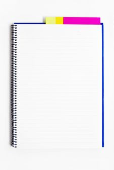 Blank Notebook With Memo Isolated Royalty Free Stock Photos