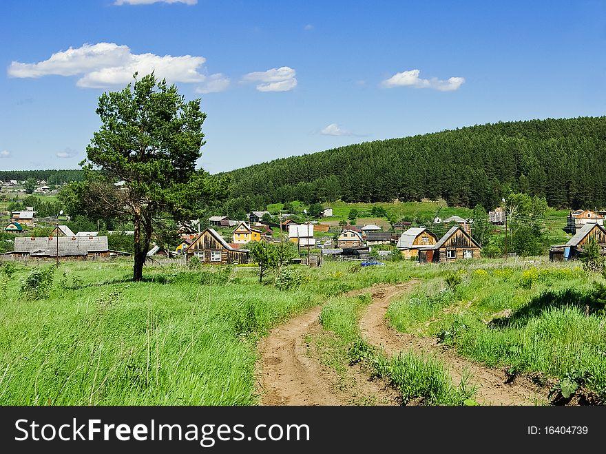 Russian village outskirts