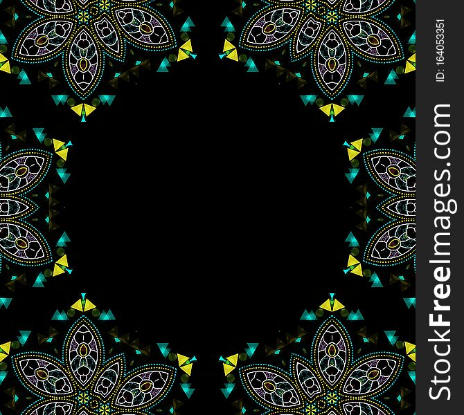 Abstract elements on black background for graphic dezign