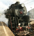 Free Steam Locomotive On A Railway Royalty Free Stock Image - 16411246