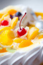 Free Pie Decorated With Fruit And A Cherry Royalty Free Stock Photos - 16414608