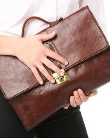 Woman Holding A Bag Royalty Free Stock Photos