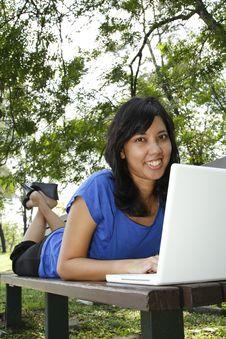 Free Woman With Laptop Stock Photos - 16410253