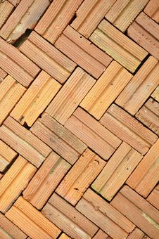 Free Orange Brick Floor Pattern Stock Images - 16410734