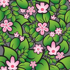 Free Floral Seamless Pattern Royalty Free Stock Photos - 16411028