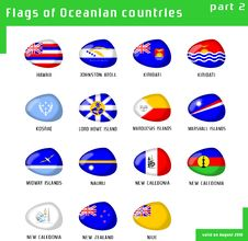Free Flags Of Oceania Stock Images - 16411674