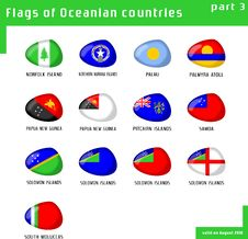 Free Flags Of Oceania Royalty Free Stock Images - 16411679