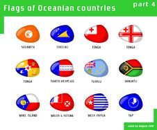 Free Flags Of Oceania Royalty Free Stock Photography - 16411687