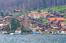 Free Village Around Lake Of Thun Royalty Free Stock Photography - 16411717
