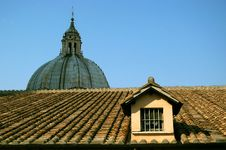 Free The Roof Of Saint Peter S Basilica Royalty Free Stock Photo - 16412425