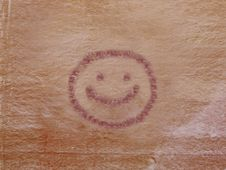 Free Petroglyph Of Smiley Face Royalty Free Stock Image - 16412596