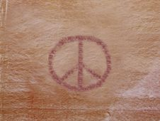 Free Petroglyph Of Peace Stock Photos - 16412603