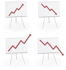 Economy Chart Report Forecast Royalty Free Stock Photo