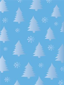 Free Fir Trees And Snowflakes Stock Image - 16412871