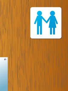 Bathroom Man And Woman Royalty Free Stock Photos