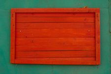 Free Red Wooden Stand Stock Images - 16413324