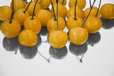 Yellow Cherries Stock Image