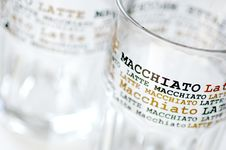 Latte Macchiato Glasses Royalty Free Stock Photo