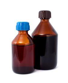 Free Two Brown Medical Bottles Stock Image - 16414821