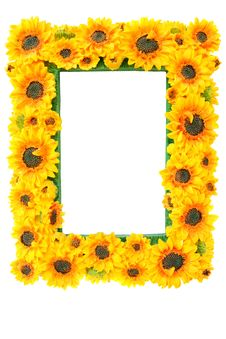 Free Photo Frame With Sunflowers Stock Images - 16415224