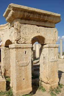 Free Roman Ruins, Libya Stock Images - 16415944