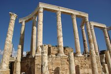 Free Roman Columns, Libya Royalty Free Stock Images - 16416079
