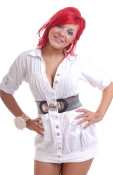 Free Pretty Young Woman With Red Hair Stock Photo - 16416370