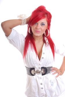 Free Pretty Young Woman With Red Hair Royalty Free Stock Images - 16416379