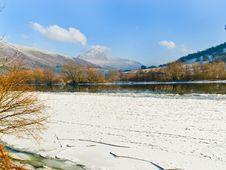 Winter Lake Stock Photography