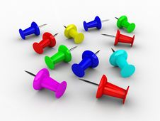 3D Push Pins Stock Images