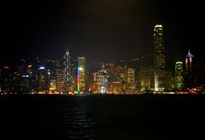 Free Hong Kong By Night Stock Photography - 16418342